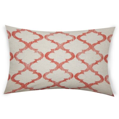 Epling Cotton Lumbar Pillow Color: Orange