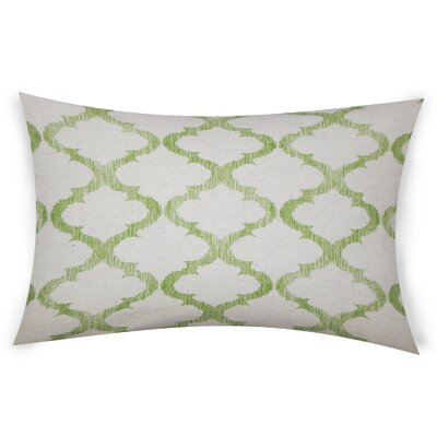 Epling Cotton Lumbar Pillow Color: Green