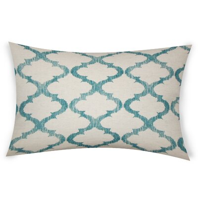 Epling Cotton Lumbar Pillow Color: Turquoise