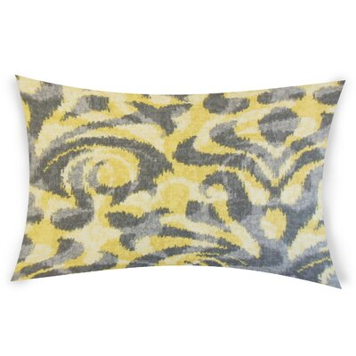 Oakely Cotton Lumbar Pillow Color: Yellow
