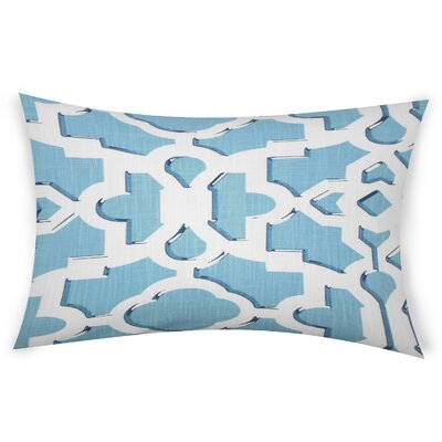 Gibraltar Cotton Lumbar Pillow Color: Blue