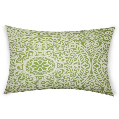 Epps Cotton Lumbar Pillow Color: Green