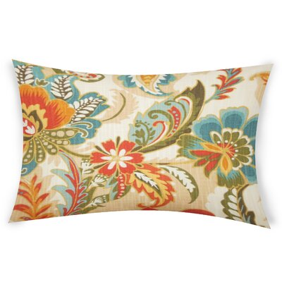 Oakhill Cotton Lumbar Pillow Color: Blue/Orange