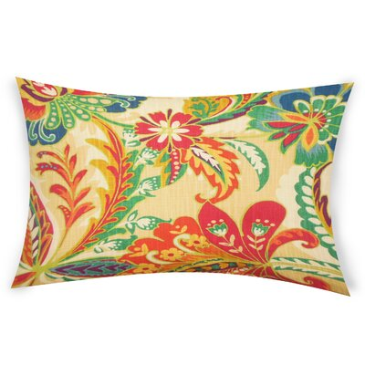 Oakhill Cotton Lumbar Pillow Color: Red/Yellow