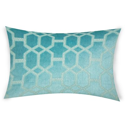 Epstein Cotton Lumbar Pillow Color: Turquoise