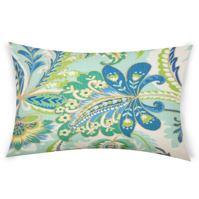 Oakhill Cotton Lumbar Pillow Color: Blue