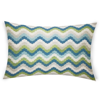 Oakton Cotton Lumbar Pillow Color: Blue