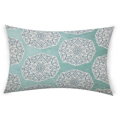 Erazo Cotton Lumbar Pillow Color: Turquoise