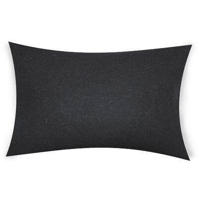 Dove Springs Wool Lumbar Pillow Color: Black