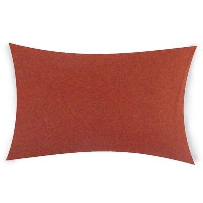 Dove Springs Wool Lumbar Pillow Color: Red