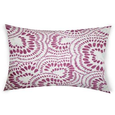 Combest Cotton Lumbar Pillow Color: Purple