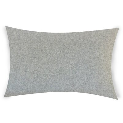 Dove Springs Wool Lumbar Pillow Color: Gray