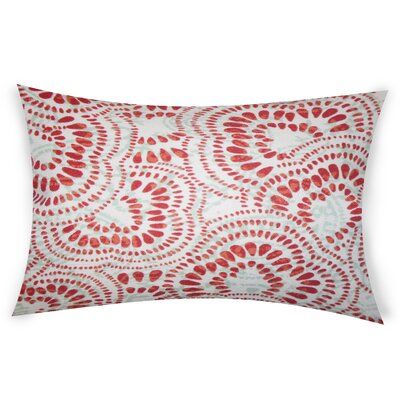 Combest Cotton Lumbar Pillow Color: Red