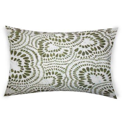 Combest Cotton Lumbar Pillow Color: Green