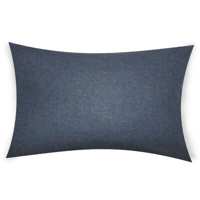 Dove Springs Wool Lumbar Pillow Color: Dull Blue