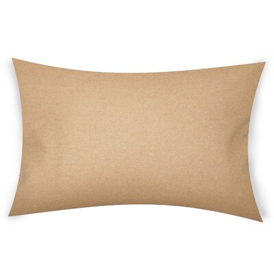 Dove Springs Wool Lumbar Pillow Color: Light Brown