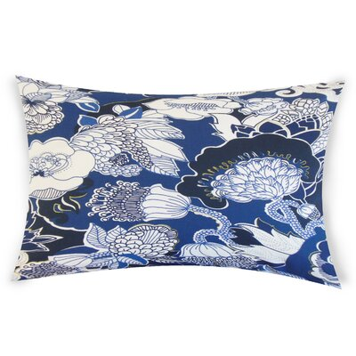 Ohare Cotton Lumbar Pillow Color: Blue
