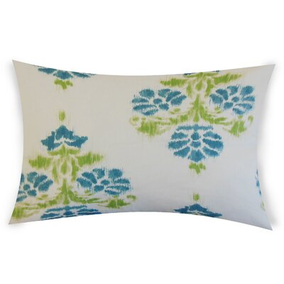 Olague Cotton Lumbar Pillow Color: Aqua Green
