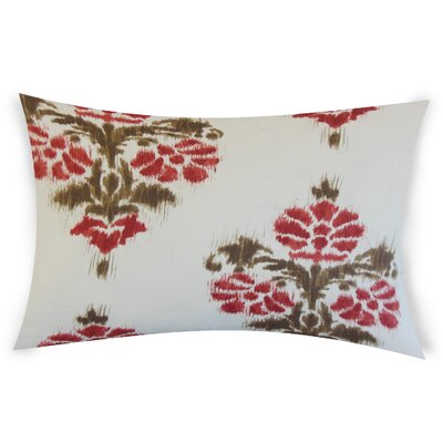 Olague Cotton Lumbar Pillow Color: Red