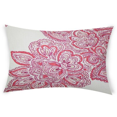Efird Linen Lumbar Pillow Color: Pink