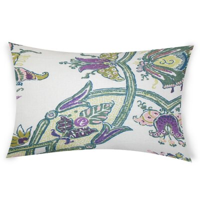 Estevez Linen Lumbar Pillow Color: Purple