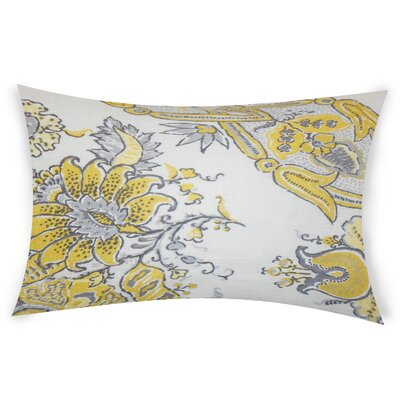 Estevez Linen Lumbar Pillow Color: Yellow
