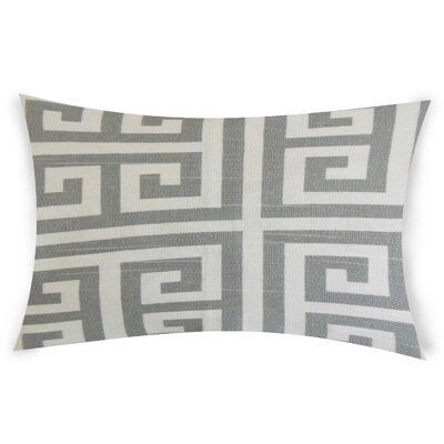 Nemeth Cotton Lumbar Pillow Color: Gray