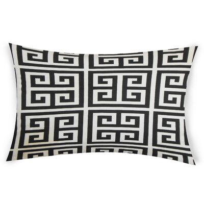 Nemeth Cotton Lumbar Pillow Color: Black
