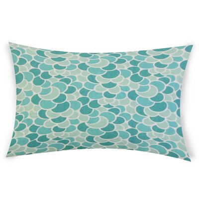 Oberg Cotton Lumbar Pillow Color: Turquoise
