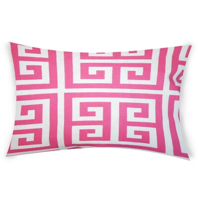 Nemeth Cotton Lumbar Pillow Color: Pink