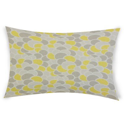 Oberg Cotton Lumbar Pillow Color: Yellow