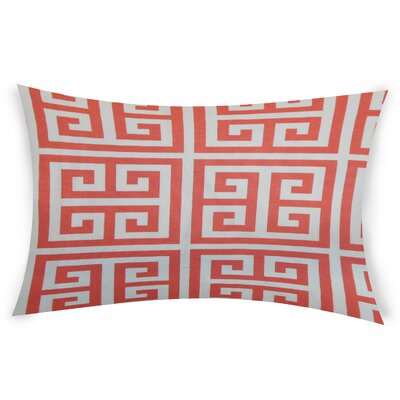 Nemeth Cotton Lumbar Pillow Color: Orange