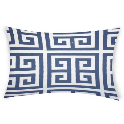 Nemeth Cotton Lumbar Pillow Color: Blue