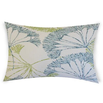 Bilal Cotton Lumbar Pillow Color: Aqua Green