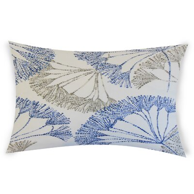 Bilal Cotton Lumbar Pillow Color: Blue