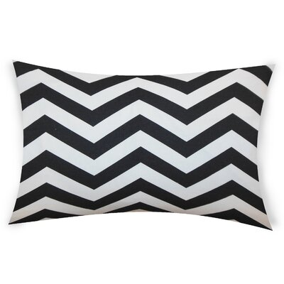 Colmenero Cotton Lumbar Pillow Color: Black