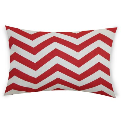 Colmenero Cotton Lumbar Pillow Color: Red