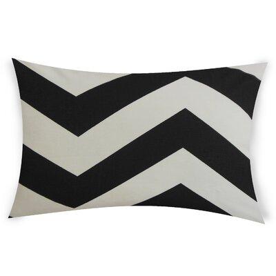 Oakwood Cotton Lumbar Pillow Color: Black