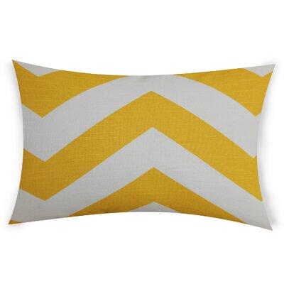 Oakwood Cotton Lumbar Pillow Color: Yellow
