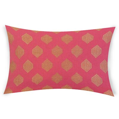 Oates Linen Lumbar Pillow Color: Pink