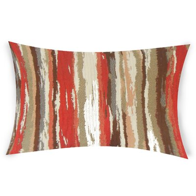 Harpe Lumbar Pillow Color: Red