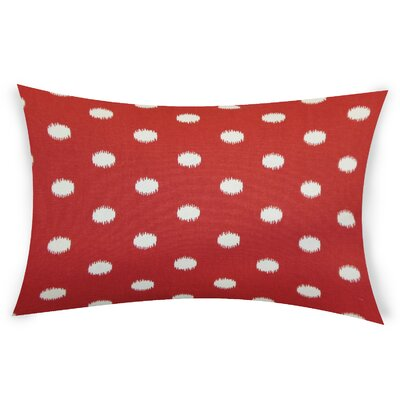 Offutt Cotton Lumbar Pillow Color: Red