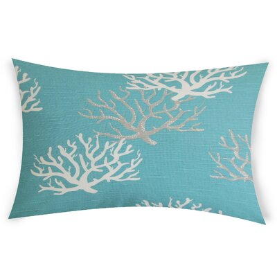 Hazley Cotton Lumbar Pillow Color: Light Blue