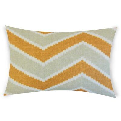 Oatman Linen Lumbar Pillow Color: Orange