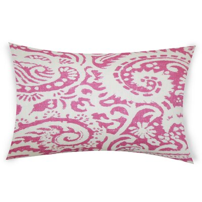 Gilbrae Linen Lumbar Pillow Color: Pink