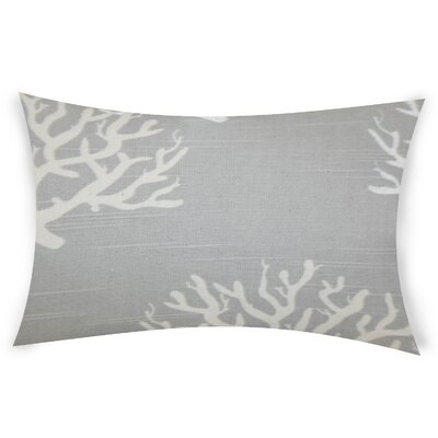 Hazley Cotton Lumbar Pillow Color: Gray