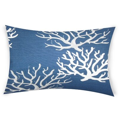 Hazley Cotton Lumbar Pillow Color: Blue