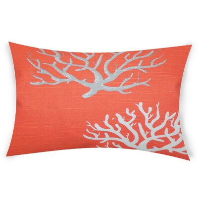 Hazley Cotton Lumbar Pillow Color: Orange