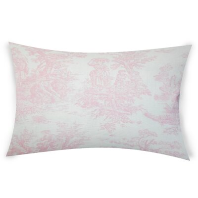 Nevin Cotton Lumbar Pillow Color: Pink
