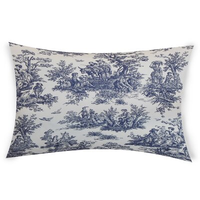 Nevin Cotton Lumbar Pillow Color: Blue